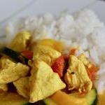 Einfaches Thai-Curry mit Pute und Kokosmilch