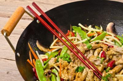 Asia Hähnchen-Pfanne mit Zuckerschoten