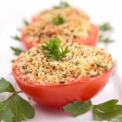 Tomaten mit Parmesan gebacken